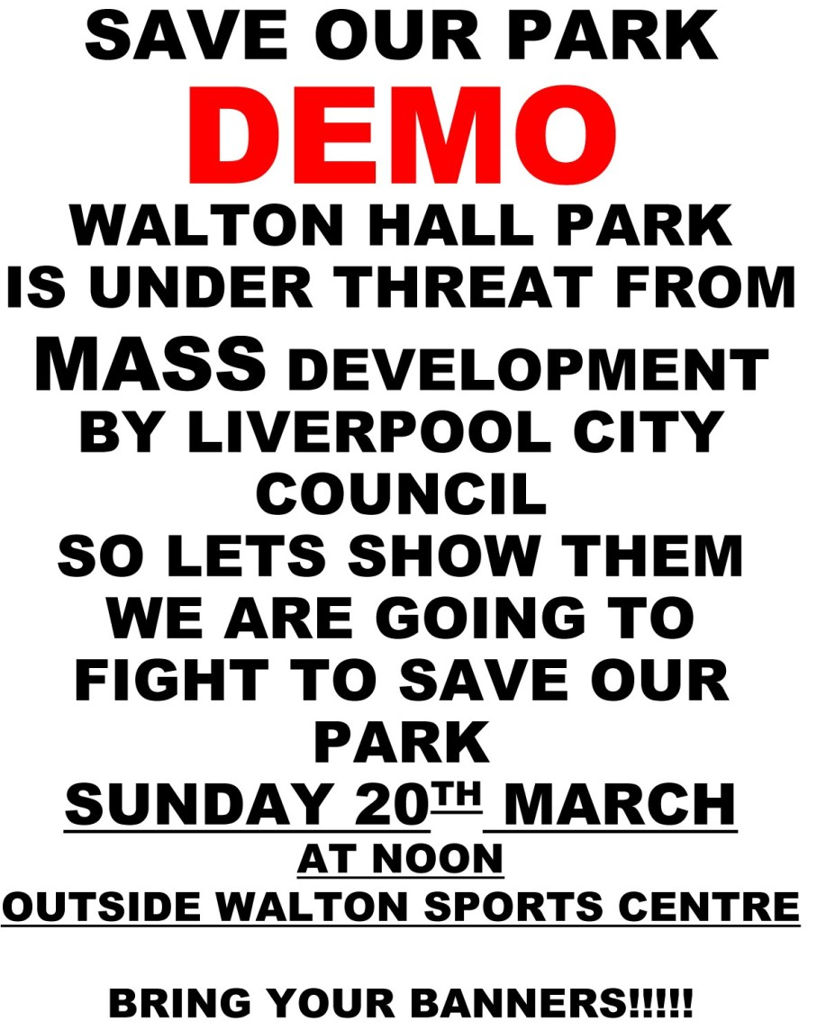 DEMO SAVE OUR PARK